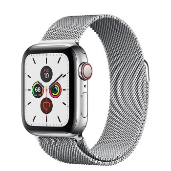 Apple Watch Series 5 rozsdamentesacél tok, milánói szíj